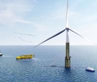 La première éolienne offshore télescopique est entrée en service