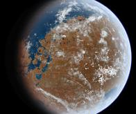 Mars regorgerait toujours d'eau, prisonnière des roches
