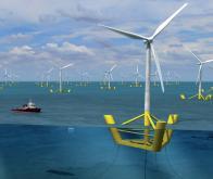 Un prototype d'éolienne flottante marine inauguré en Bretagne