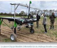 Un robot désherbant par procédé électrique couplé à un drone