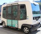 Le minibus sans pilote expérimenté à Paris