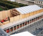 Structure bois pour le théâtre éphémère de la Comédie-Française