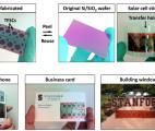Une cellule solaire en décalcomanie
