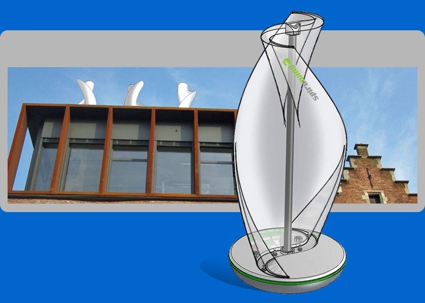 Pin eolienne axe vertical maison essais 5mod on pinterest - Mini eolienne verticale ...